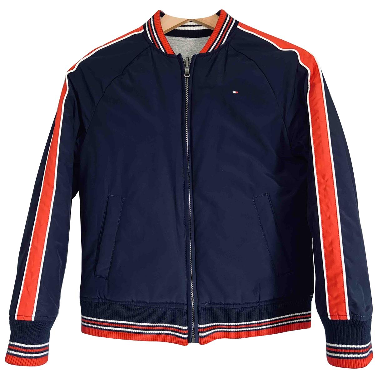 Tommy Hilfiger \N Blue Leather jacket for Women 32 FR