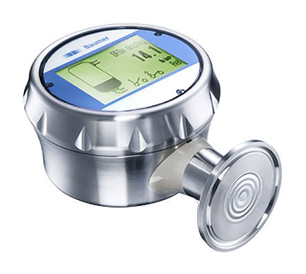 Baumer Pressure Sensor for White Oil , 5bar Max Pressure Reading Analogue