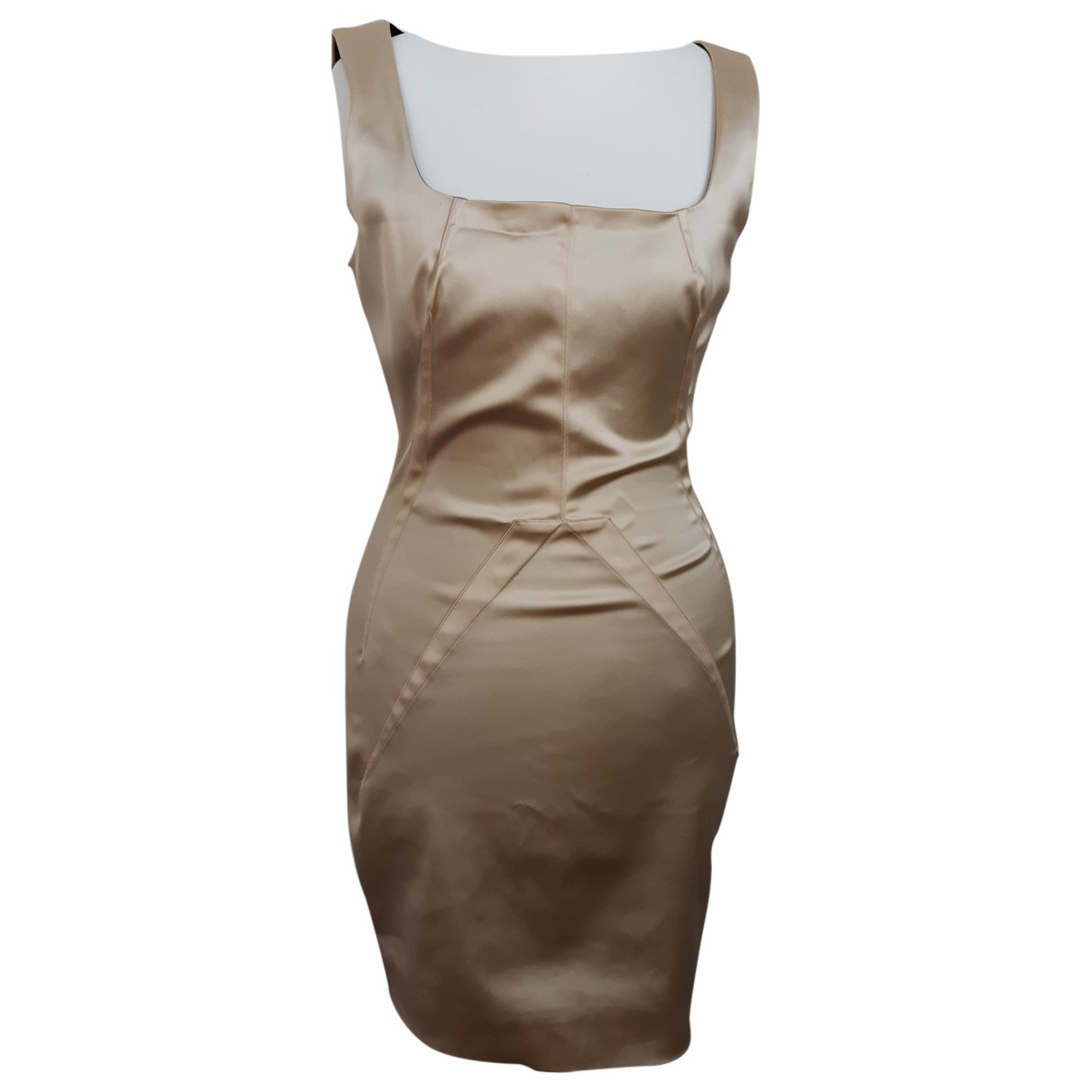 D&g \N Kleid in  Gold Synthetik