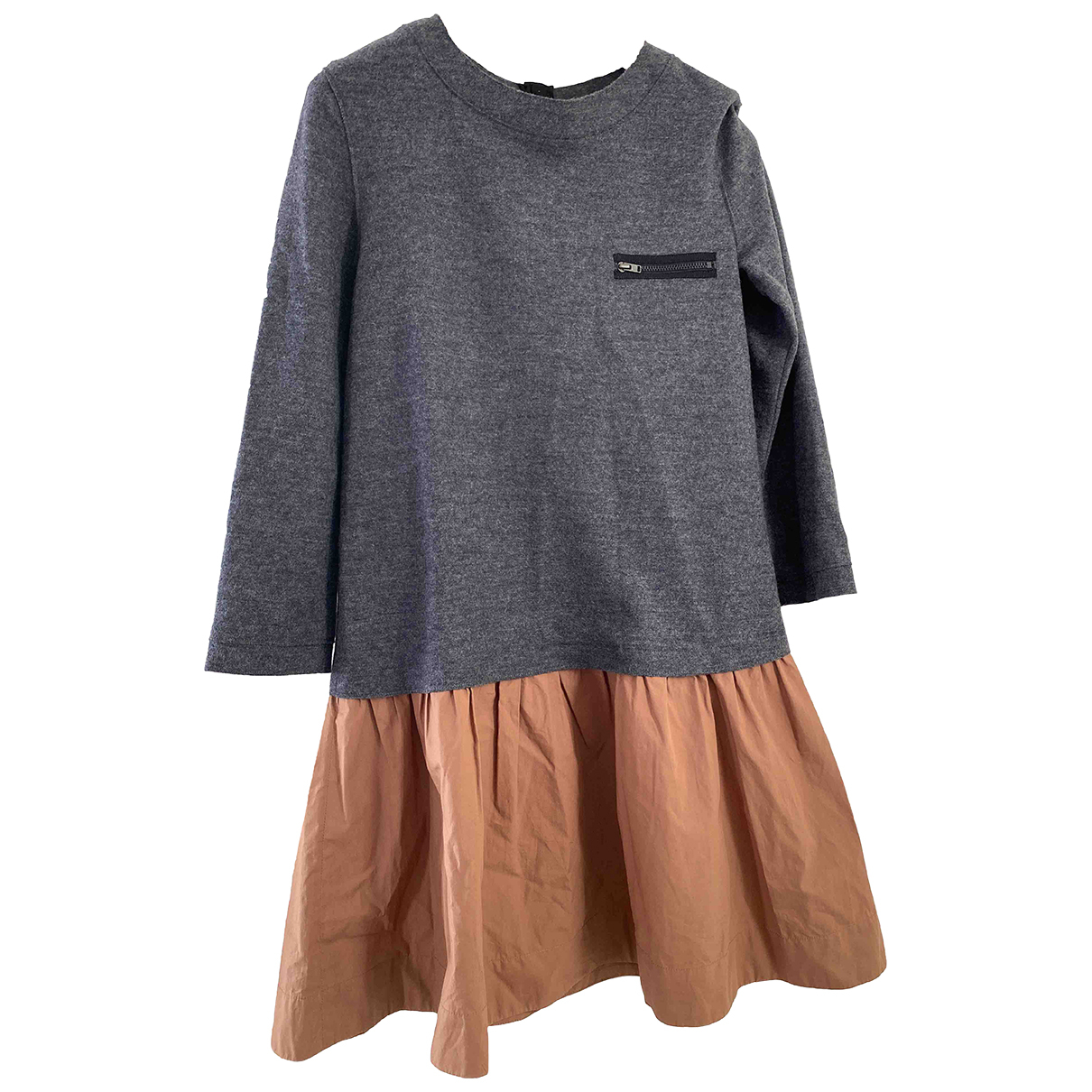Bonpoint \N Kleid in  Anthrazit Wolle