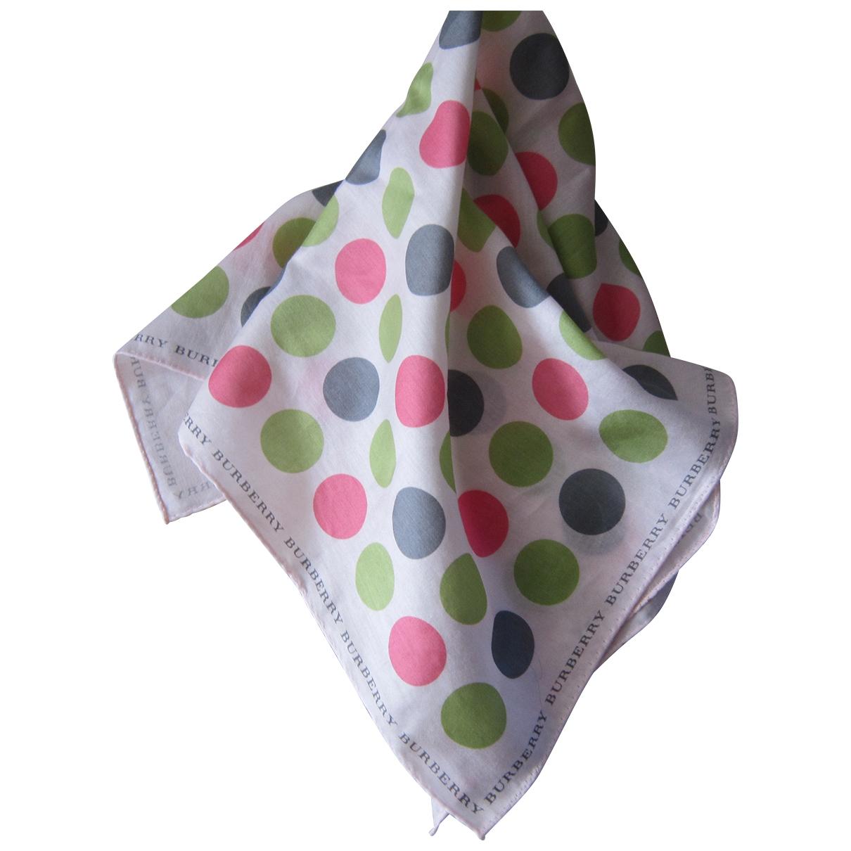 Burberry \N Multicolour Cotton Silk handkerchief for Women \N