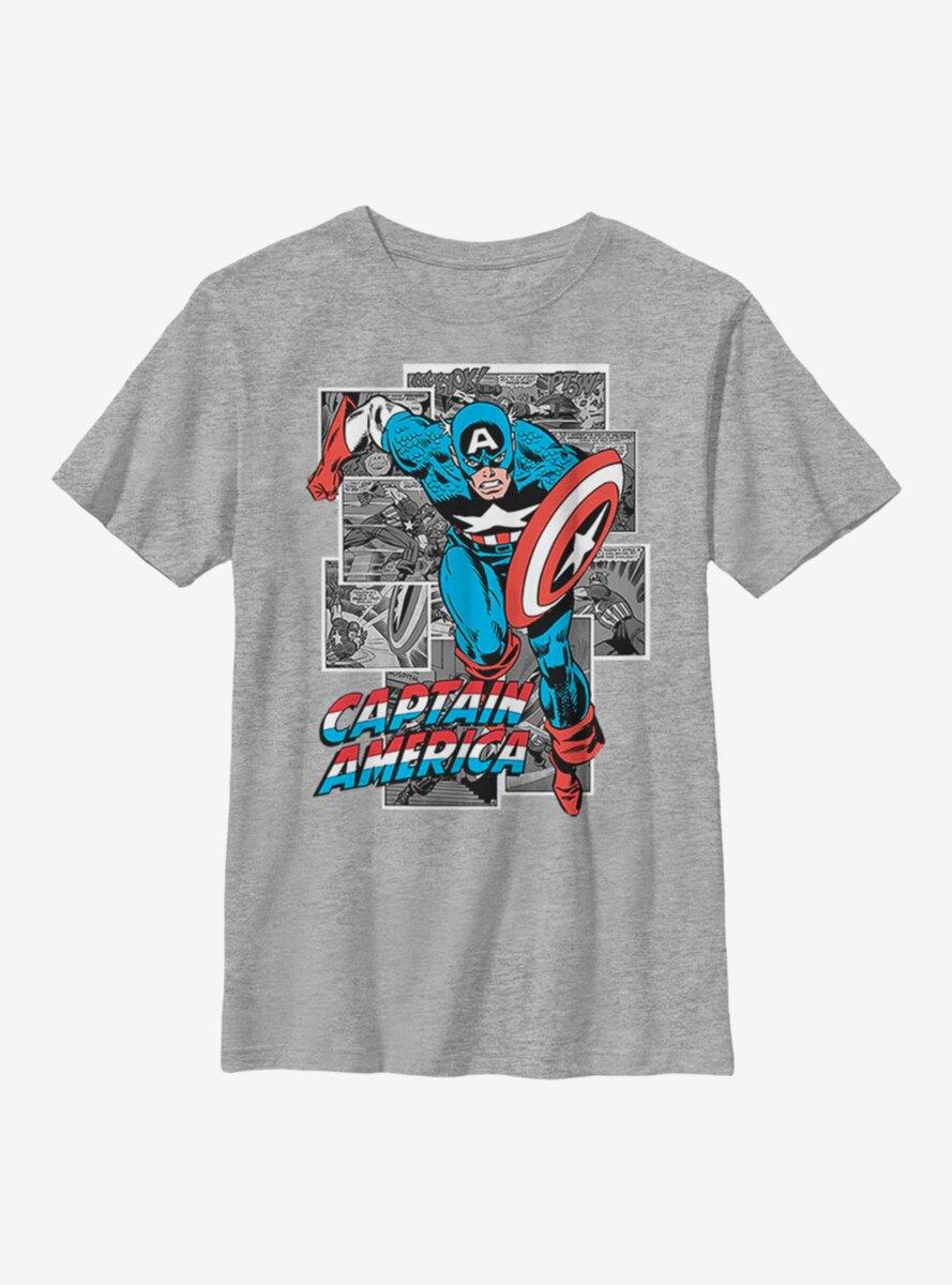 Marvel Captain America Comic Cap Youth T-Shirt