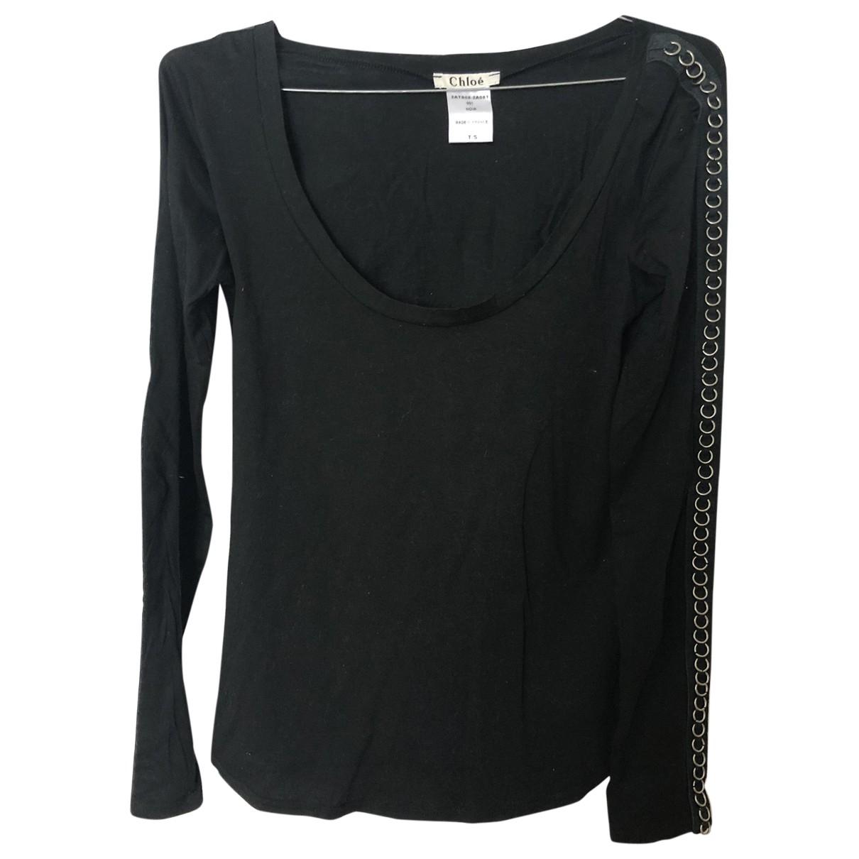Chloe - Top   pour femme en coton - noir
