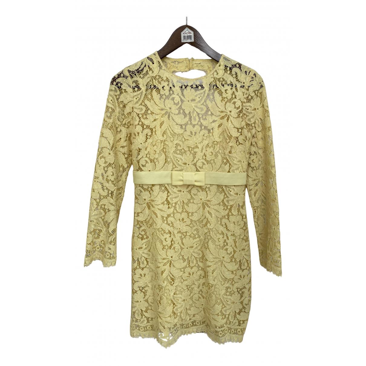 Emilio Pucci - Robe   pour femme en dentelle - jaune