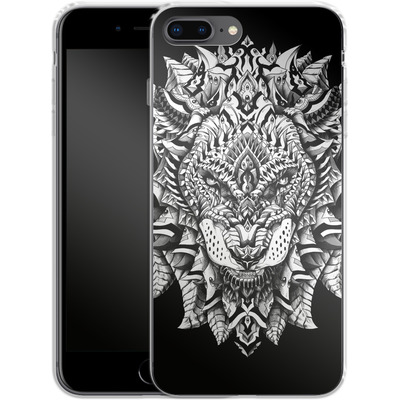 Apple iPhone 8 Plus Silikon Handyhuelle - Ornate Lion von BIOWORKZ