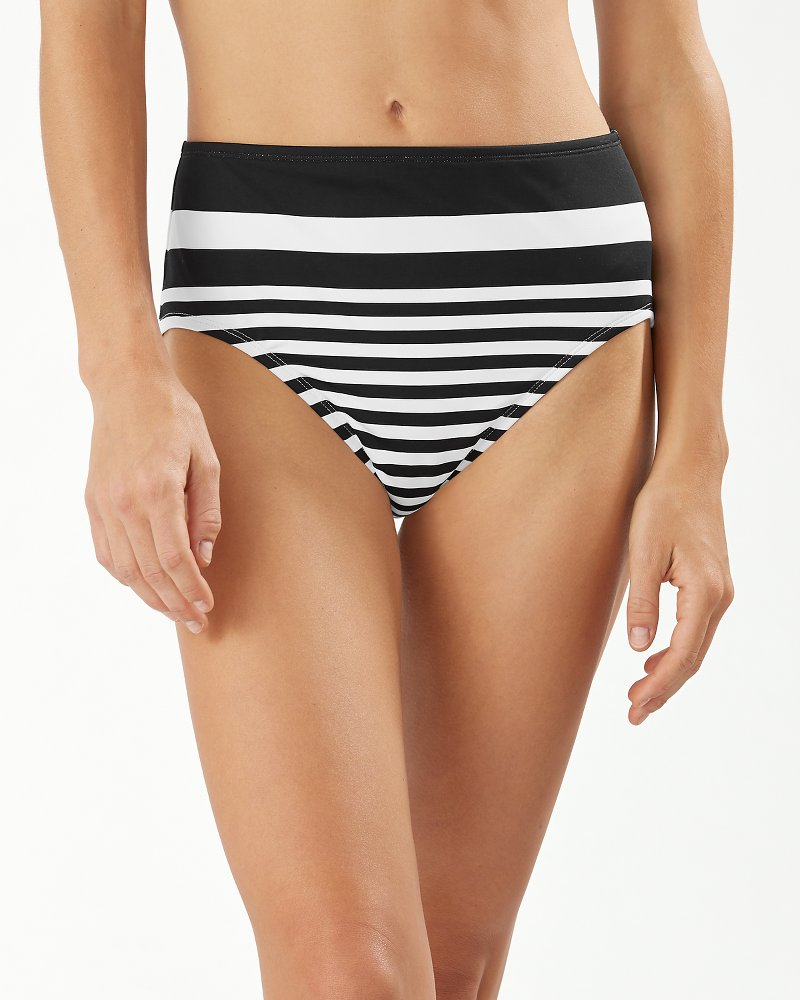 Breaker Bay Stripe Engineered High-Waist Bikini Bottoms
