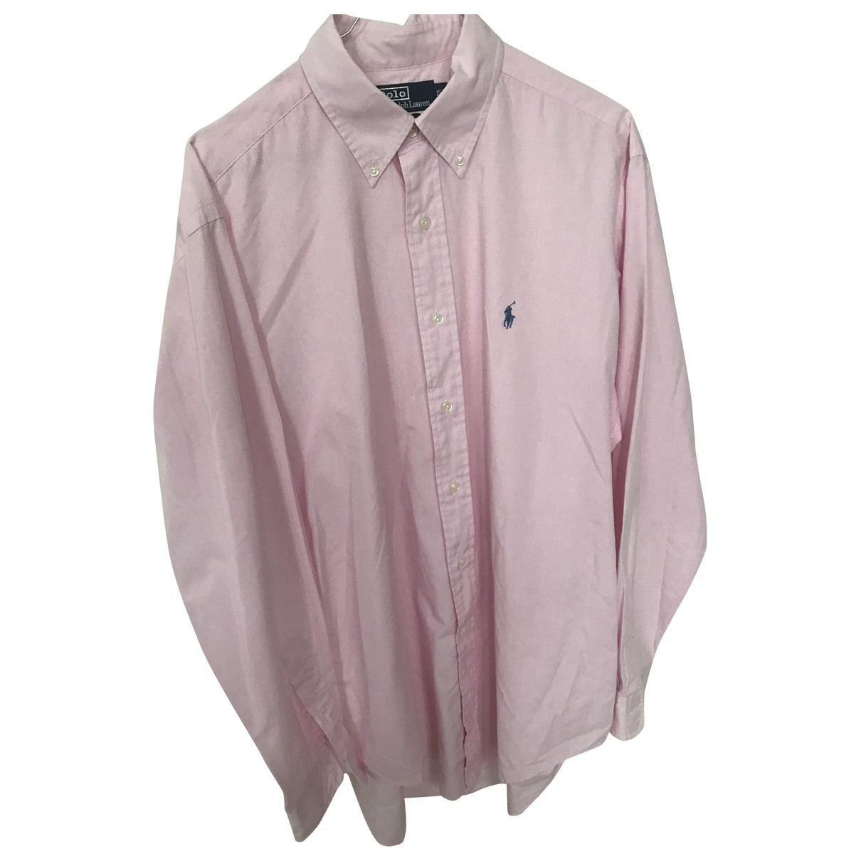 Polo Ralph Lauren \N Pink Cotton Shirts for Men 15.5 UK - US (tour de cou / collar)