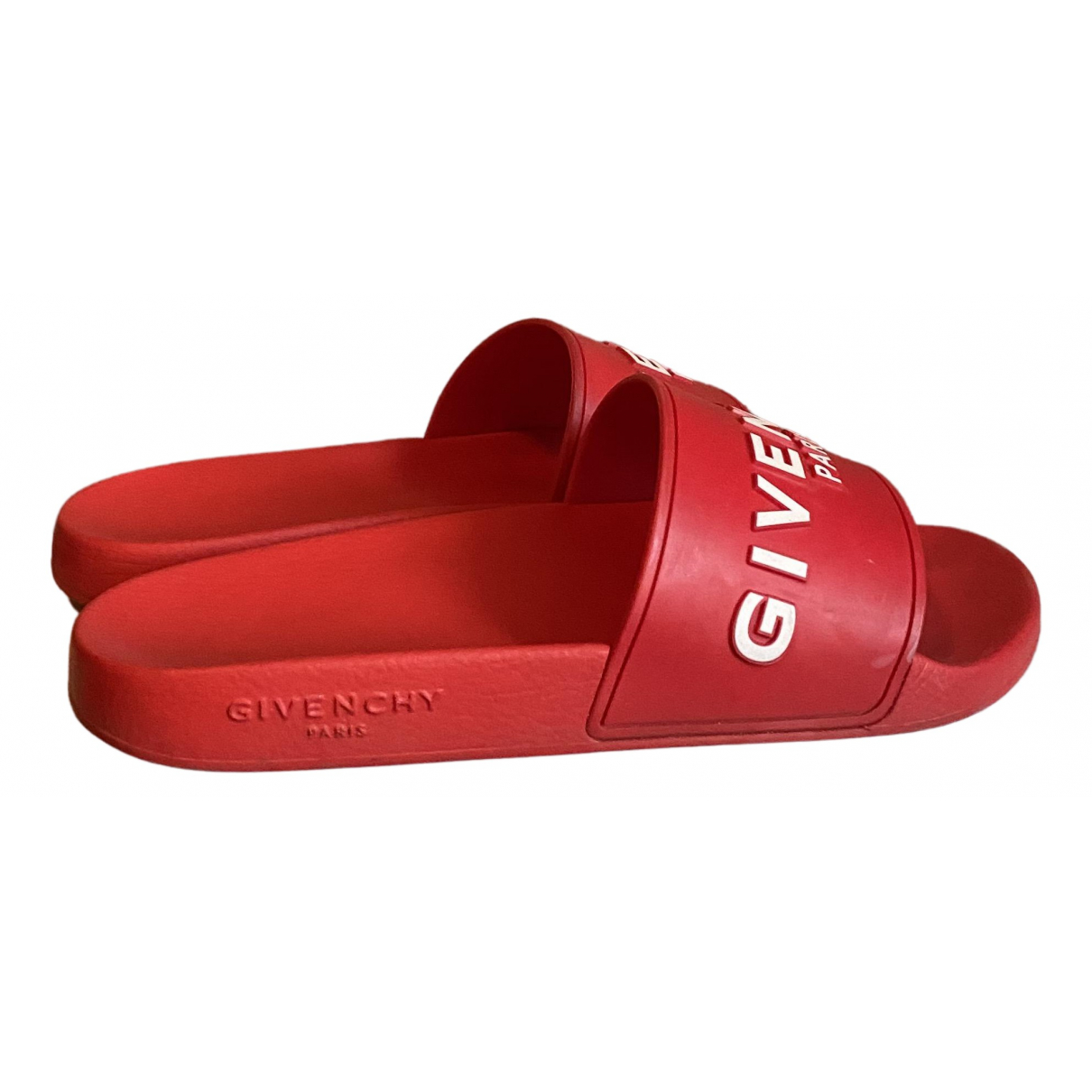 Givenchy N Red Rubber Sandals for Women 37 EU