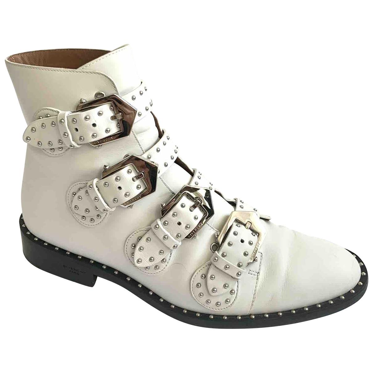 Givenchy - Boots   pour femme en cuir - blanc
