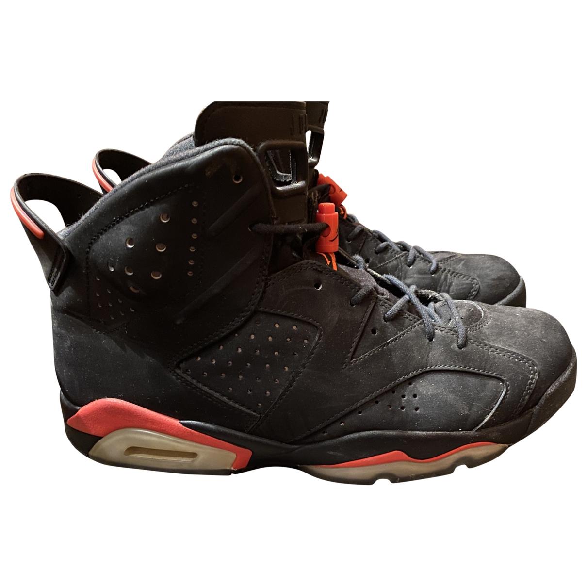 Jordan - Baskets Air Jordan 6  pour homme en suede - noir