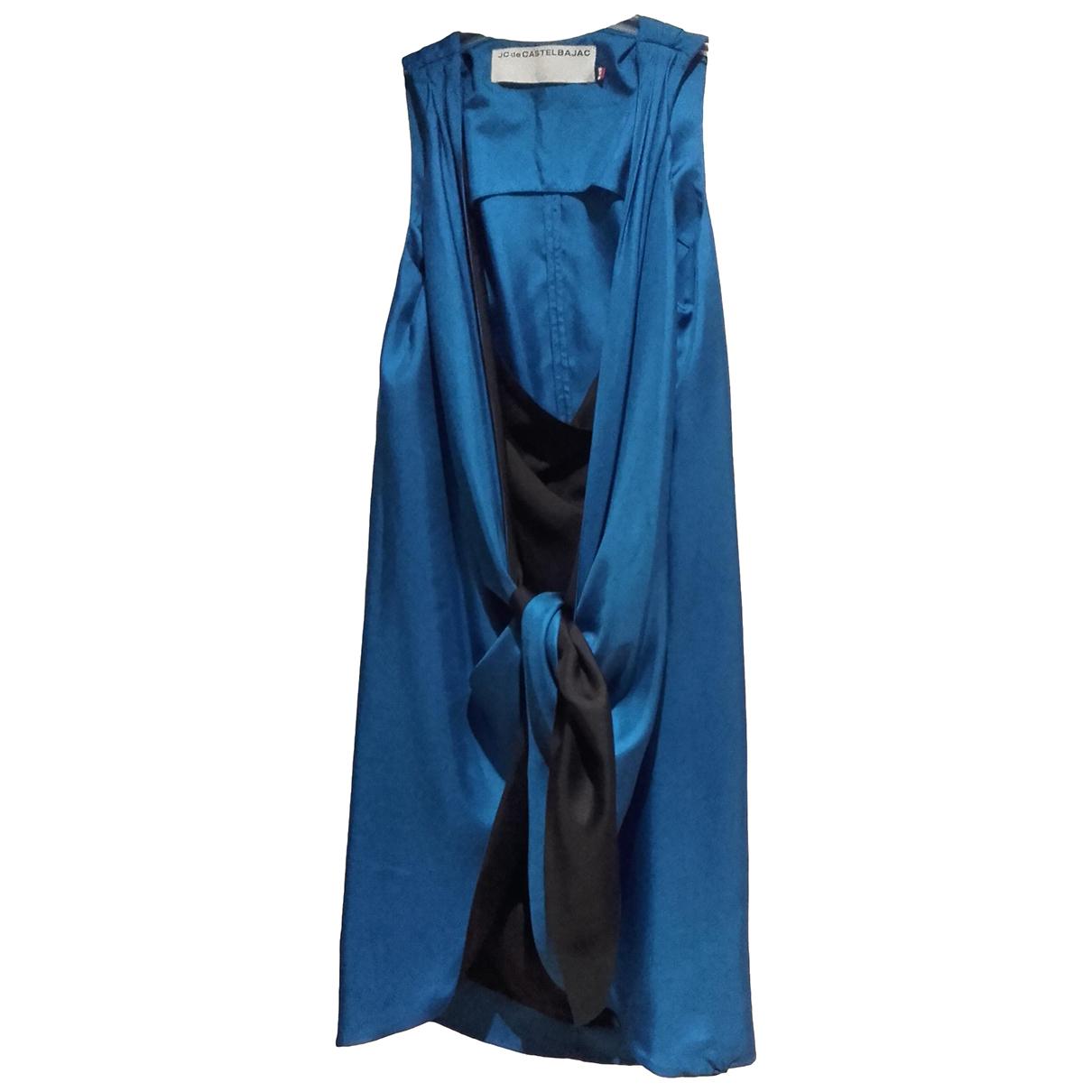Jc De Castelbajac \N Kleid in  Blau Seide