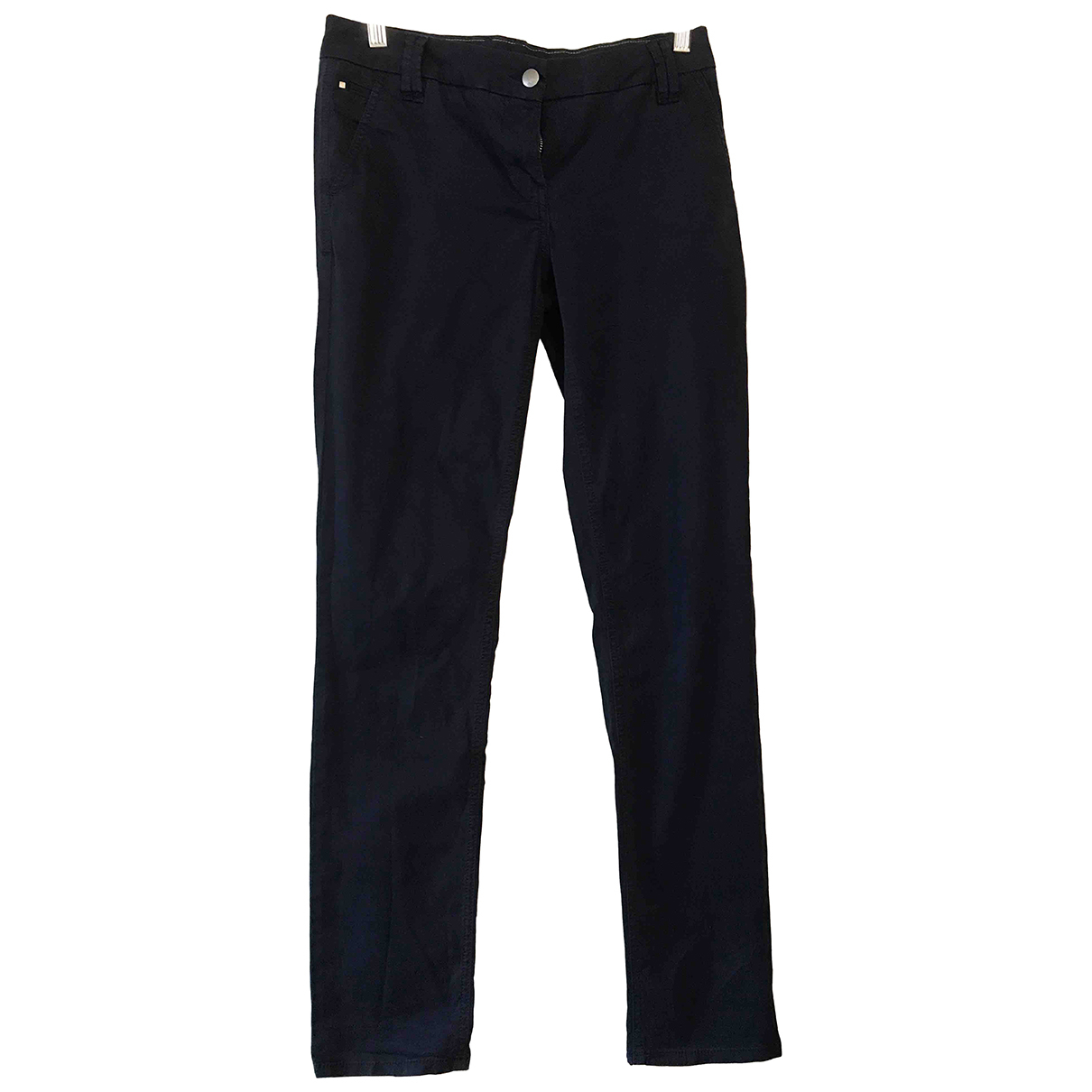 Tommy Hilfiger N Blue Cotton Trousers for Women 4 UK