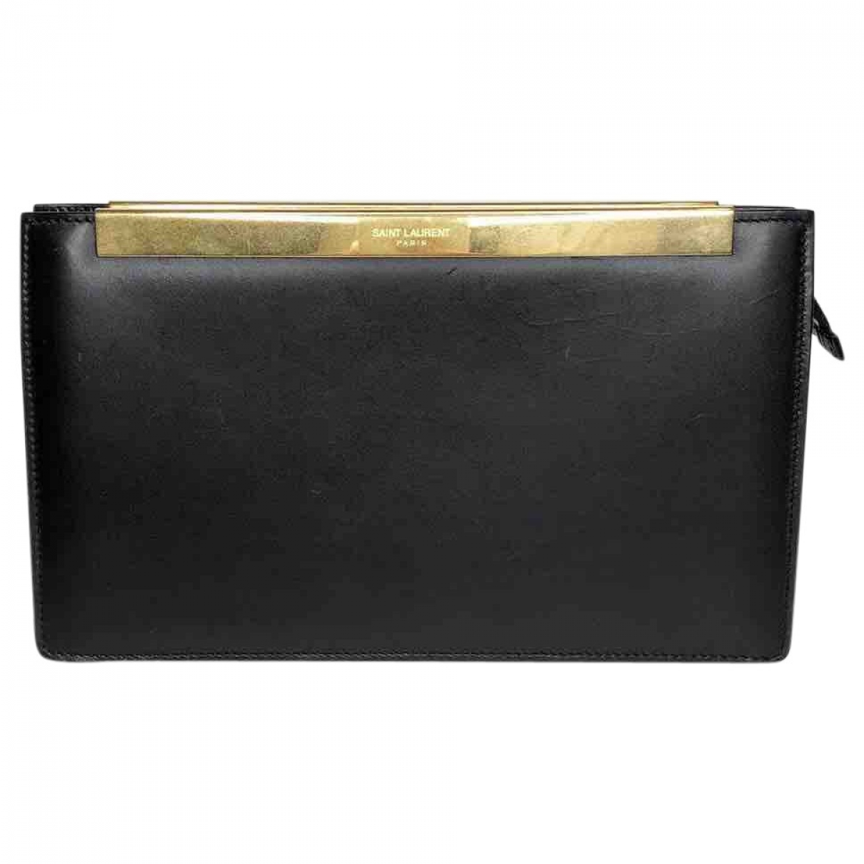 Saint Laurent \N Black Leather Clutch bag for Women \N