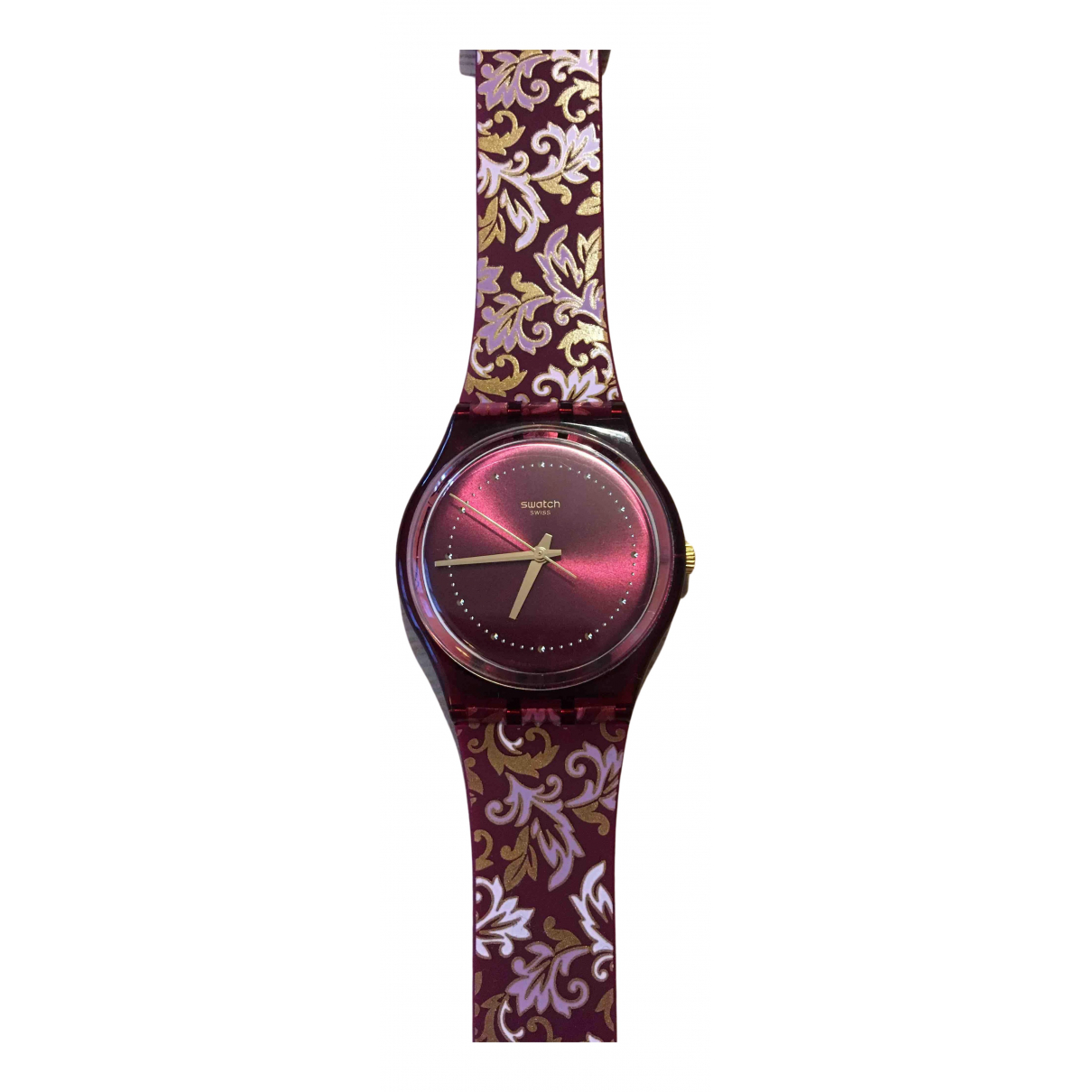 Swatch \N Uhr Bordeauxrot