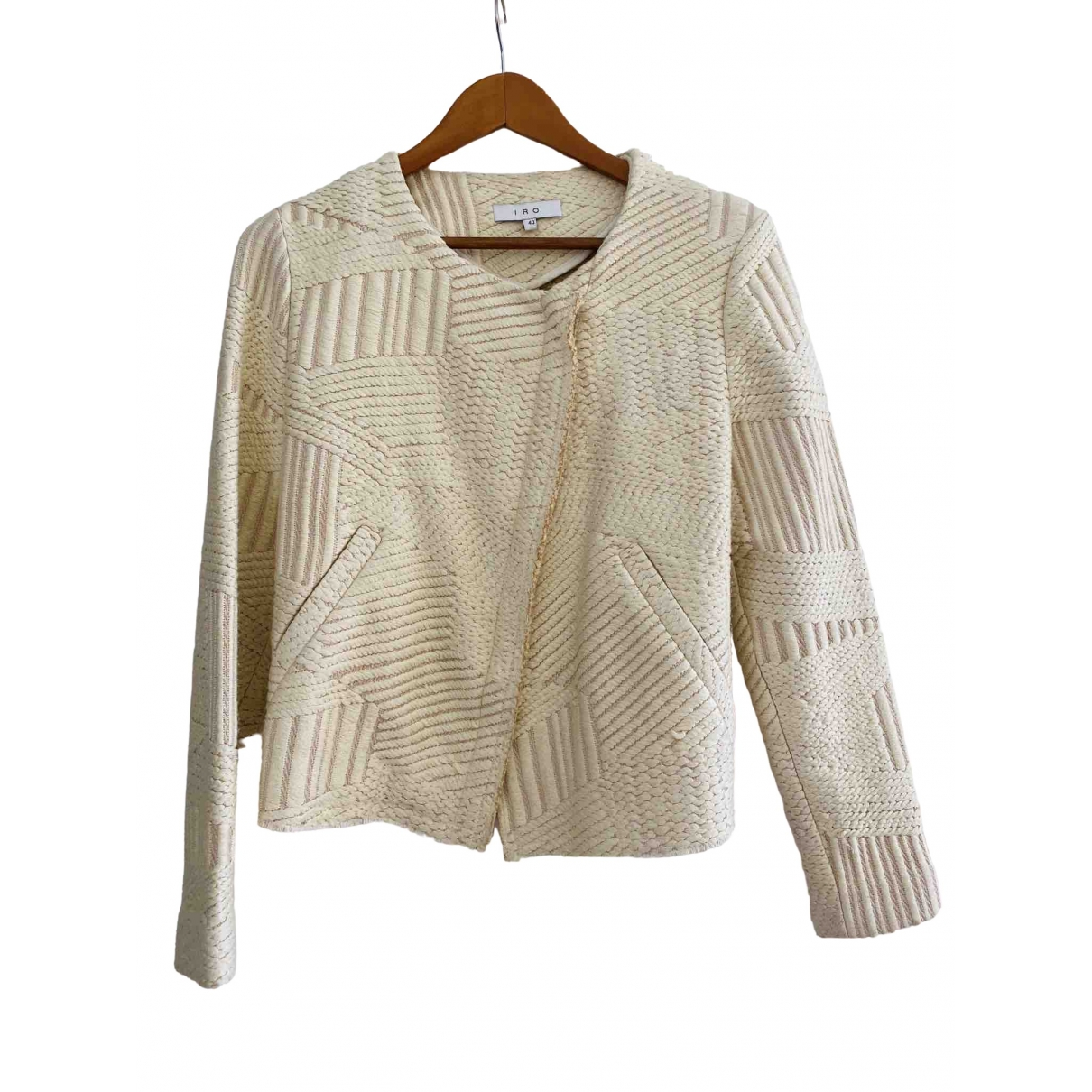 Iro \N Beige Linen jacket for Women 40 FR