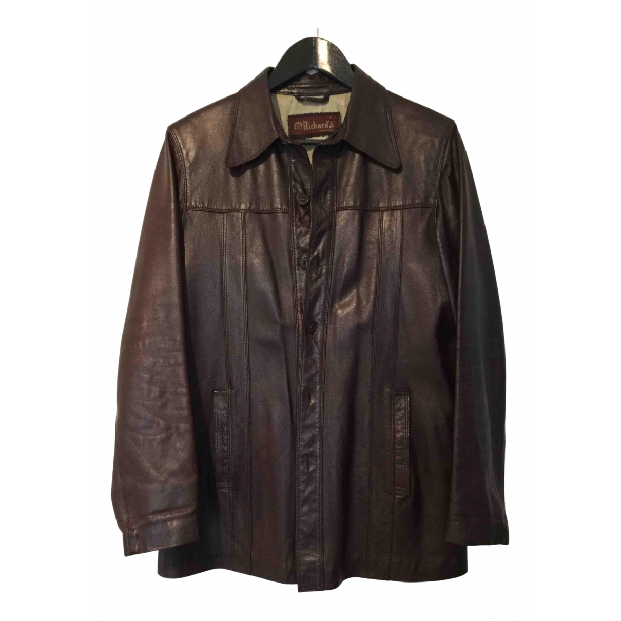 Non Signé / Unsigned N Brown Leather jacket  for Men 52 FR