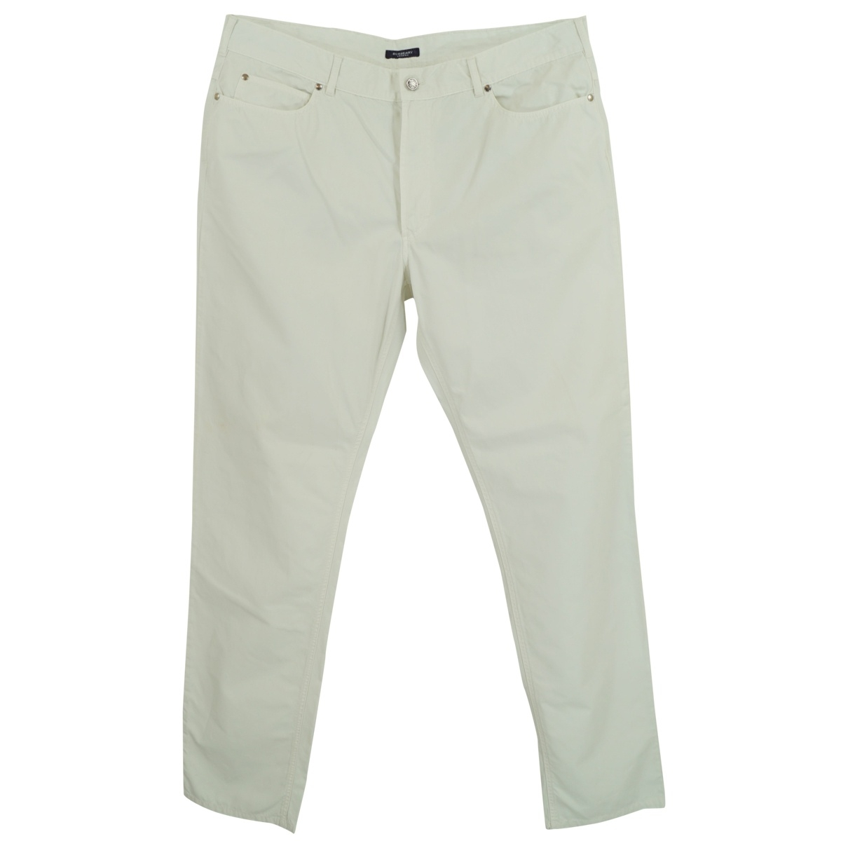 Burberry \N White Cotton Trousers for Men 56 IT
