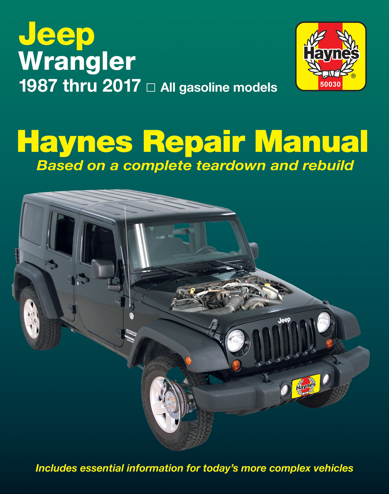 Jeep Wrangler 4-cyl & 6-cyl Gas Engine, 2WD & 4WD (87-17) Haynes Repair Manual