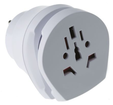 RS PRO Australia, China, Europe, Italy, Switzerland, UK to Europe, US Travel Adapter, Rated At 15A