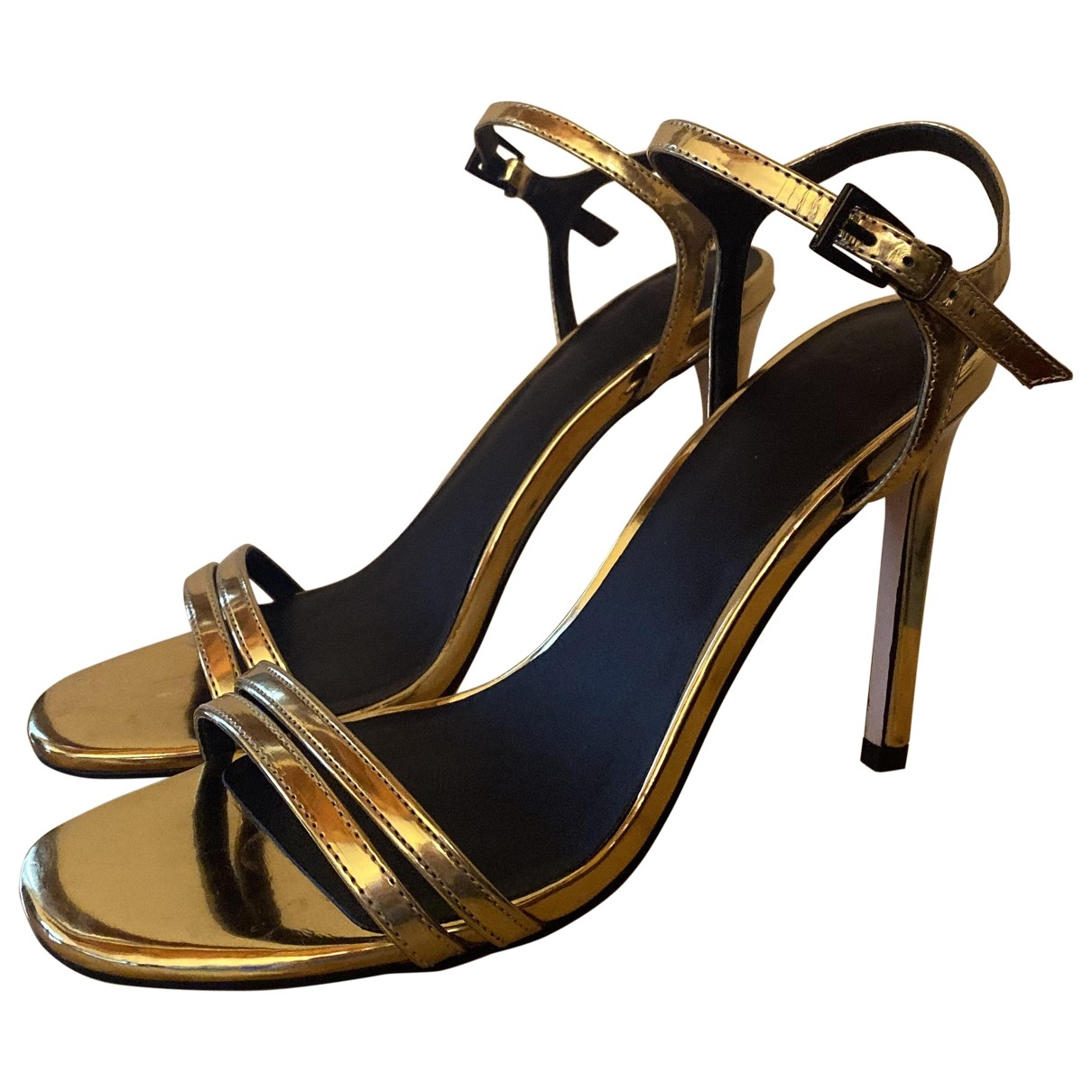 Asos \N Gold Leather Sandals for Women 39 EU