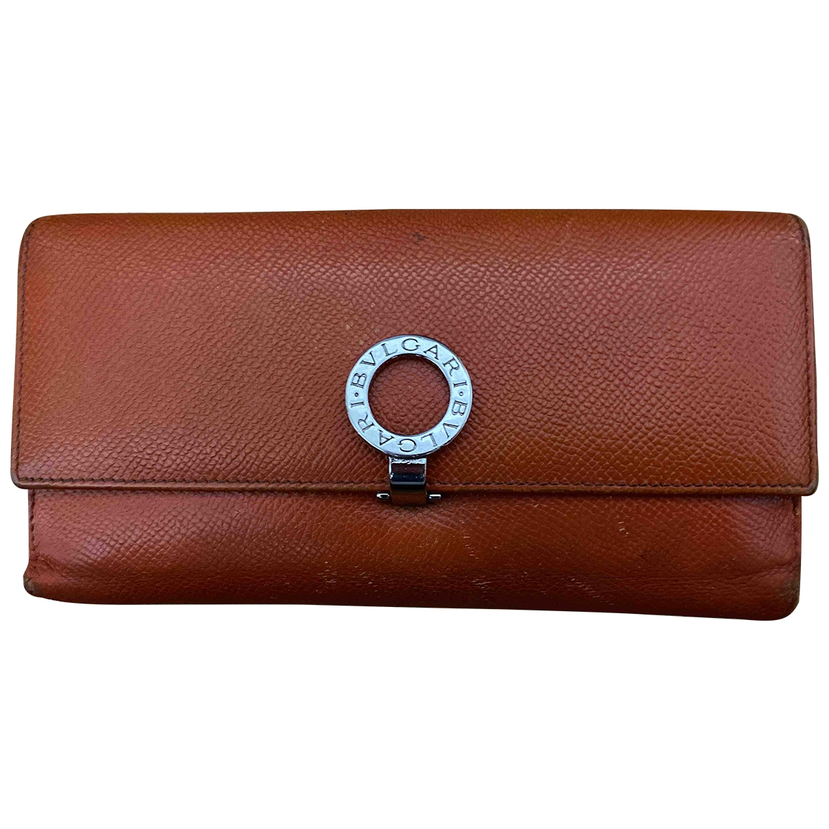Bvlgari \N Portemonnaie in  Orange Leder