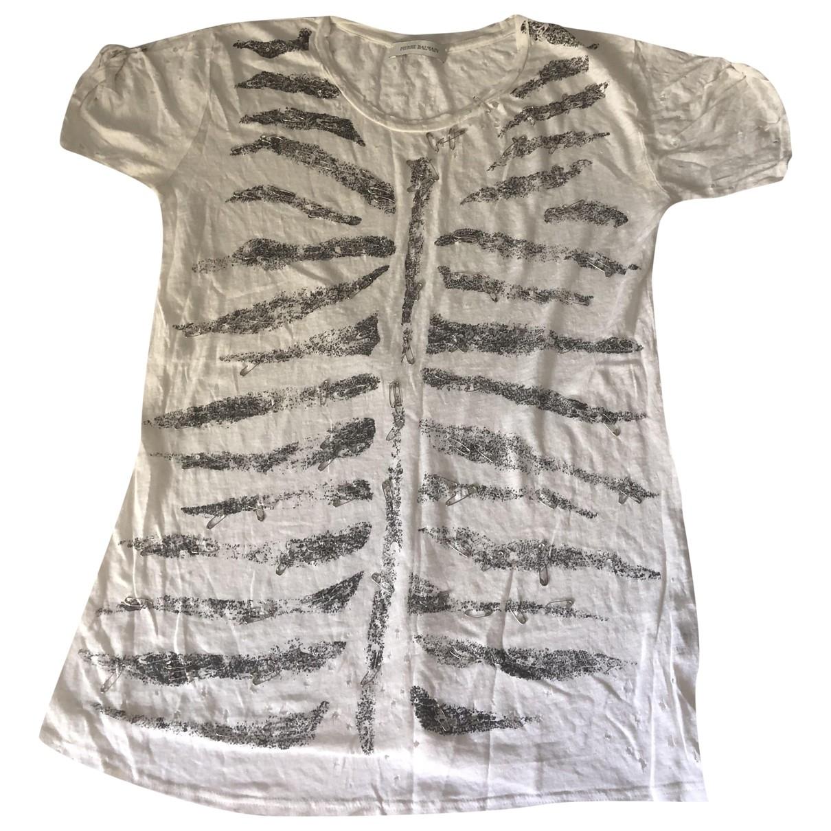 Pierre Balmain \N White Linen  top for Women 42 IT