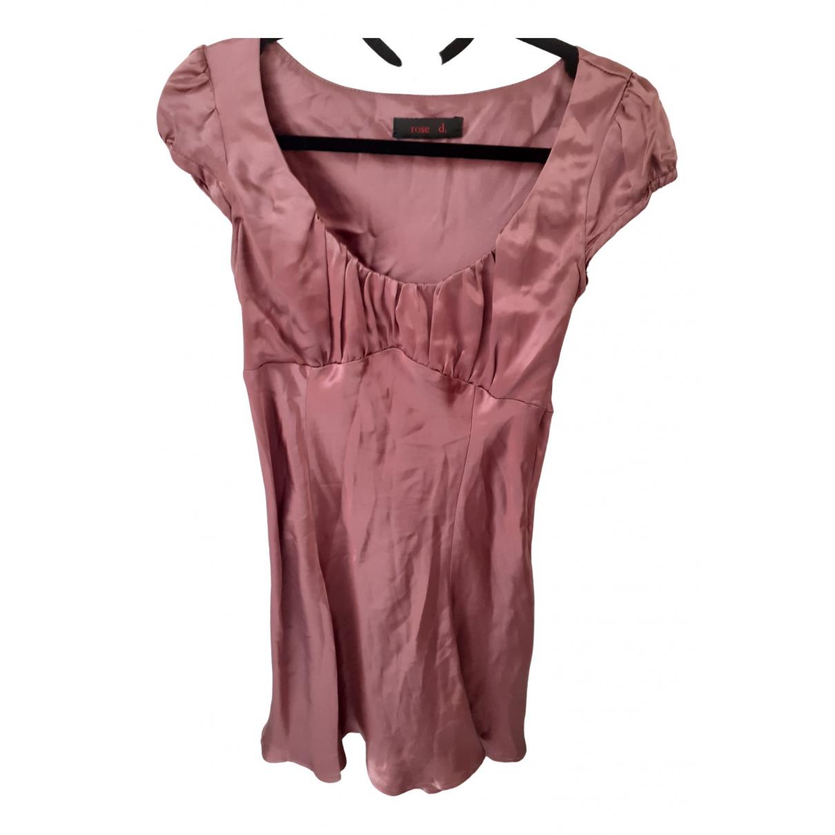 Non Signe / Unsigned \N Kleid in  Rosa Seide