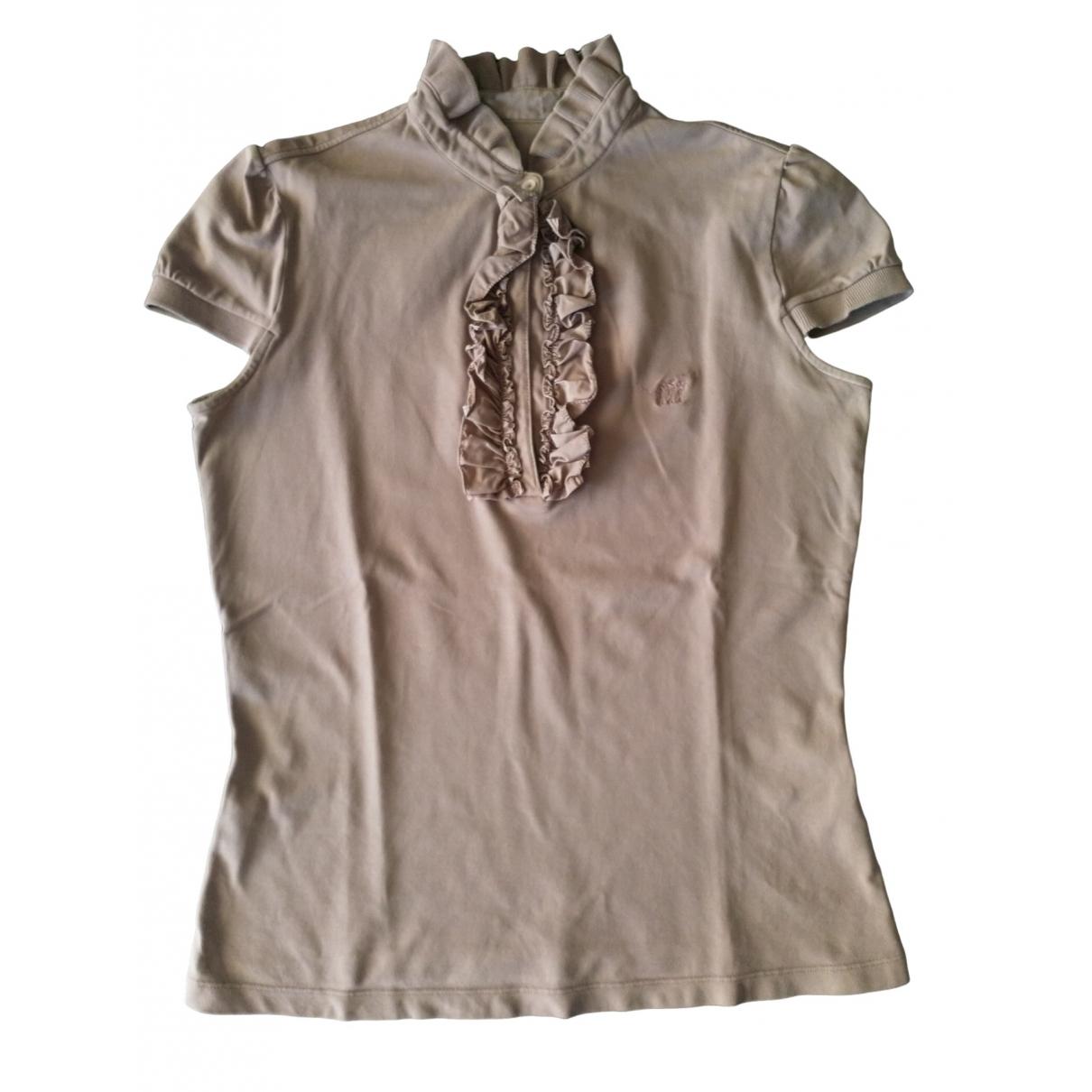 Henry Cotton - Top   pour femme en coton - beige