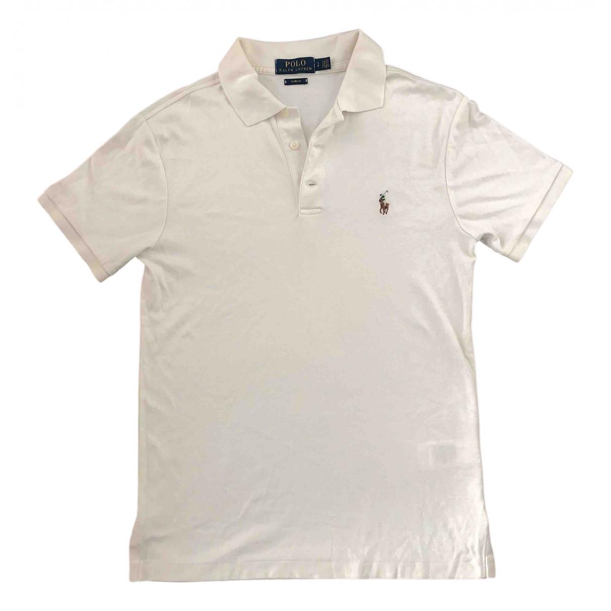 Polo Ralph Lauren - Polos Polo ajuste manches courtes pour homme en coton - ecru