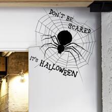 Wandaufkleber mit Halloween Spinnen Muster