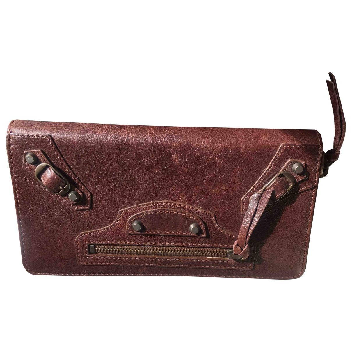 Balenciaga \N Brown Leather wallet for Women \N