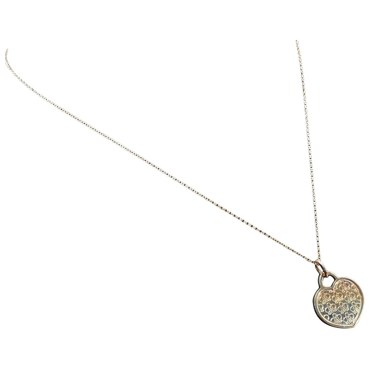 Tiffany & Co - Collier   pour femme en plaque argent - argente