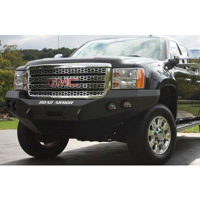 Road Armor Front Stealth Winch Bumper Round Light Port in Satin Black (Black) - 38400B