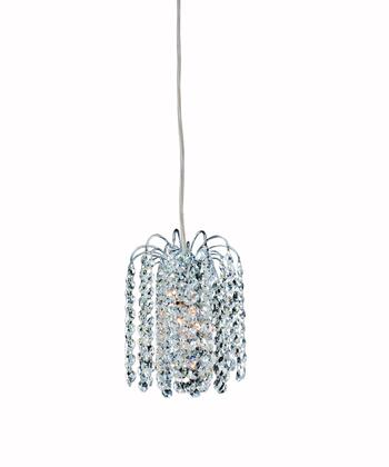 Milieu 11762-010-FR001 1-Light Mini Pendant in Chrome Finish with Firenze Clear