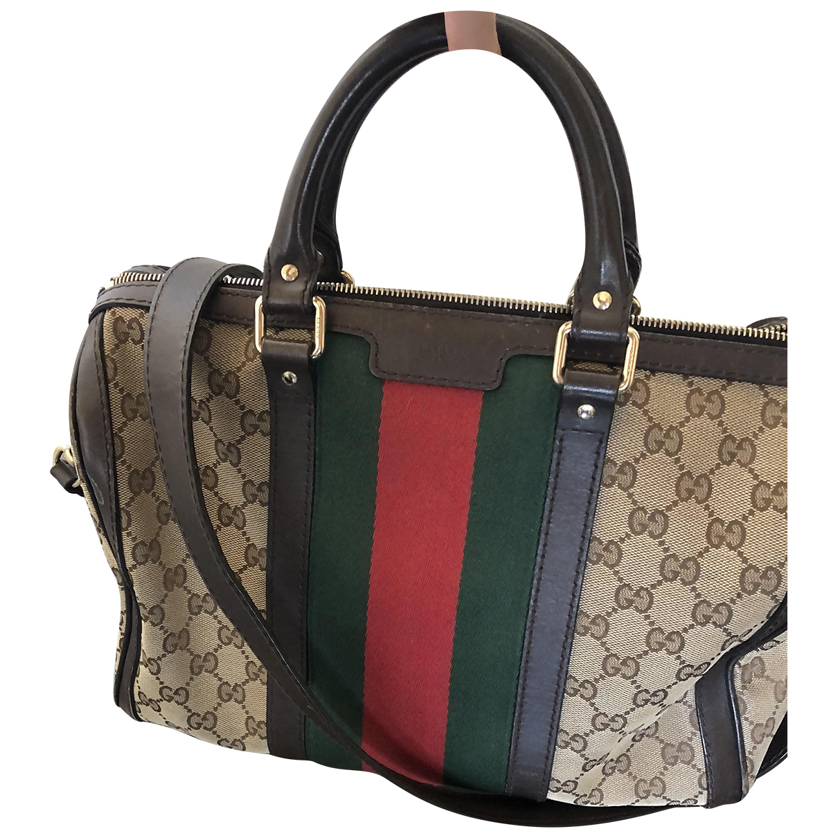 Gucci Boston Beige Cloth handbag for Women \N