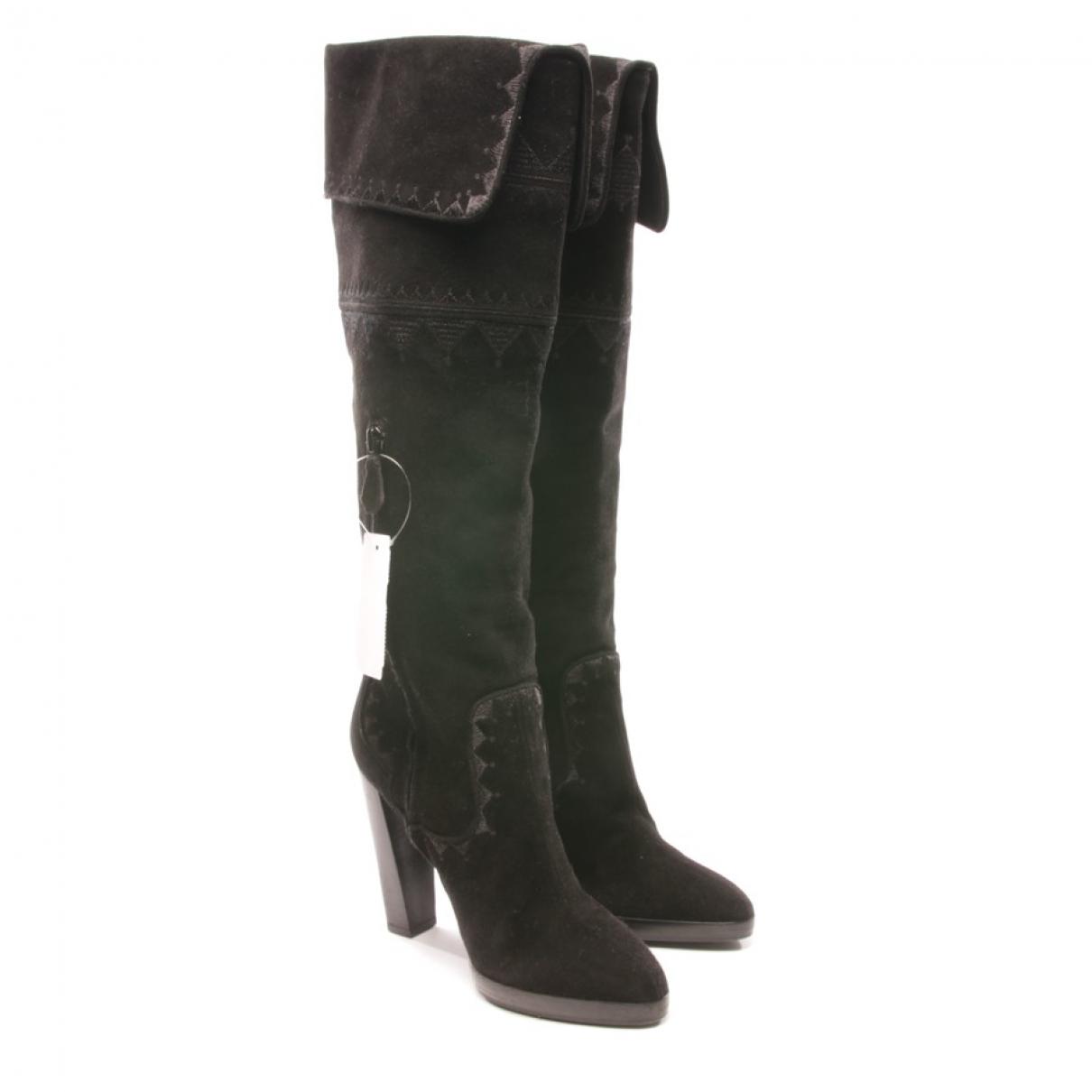 Hermès \N Black Suede Boots for Women 36.5 EU