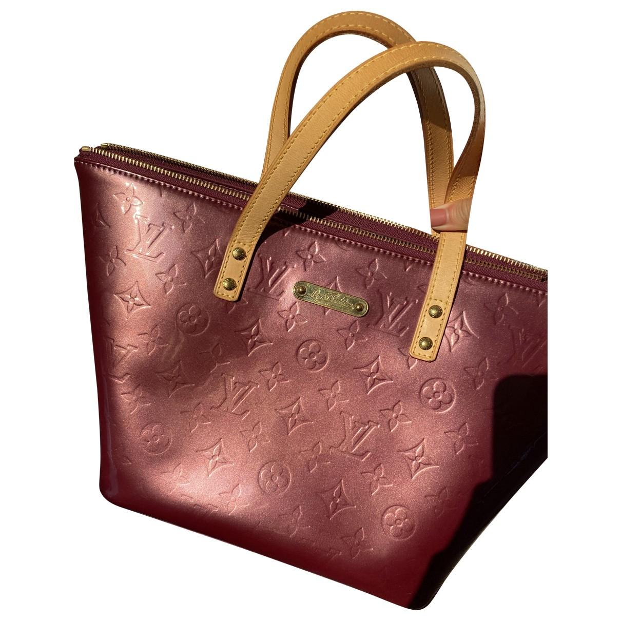 Louis Vuitton - Sac a main Bellevue pour femme en cuir verni - bordeaux