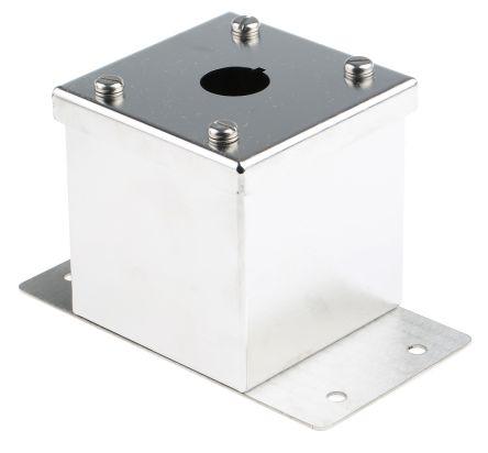 Eaton Grey Stainless Steel M22 Push Button Enclosure - 1 Hole 22mm Diameter