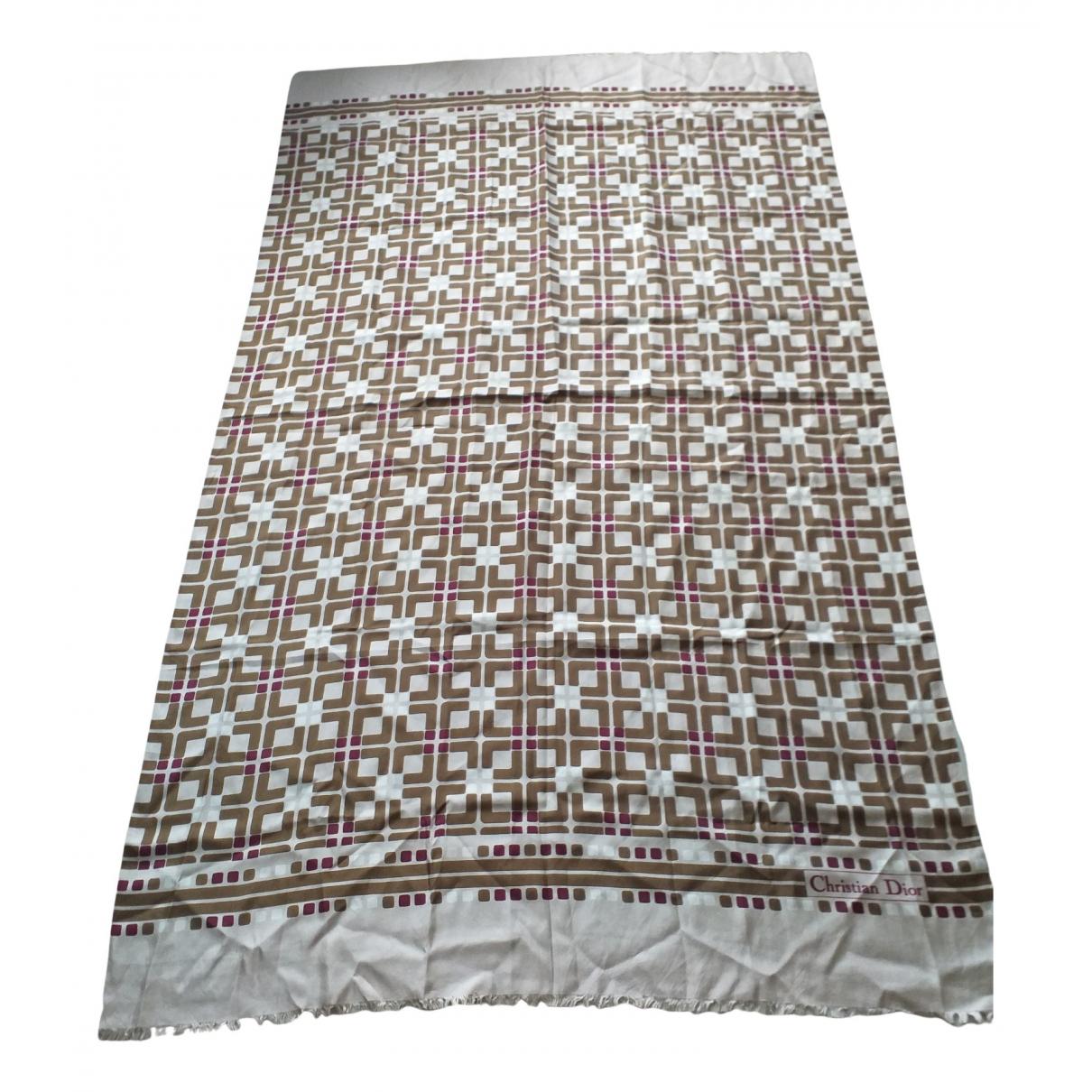 Dior N Beige Silk scarf for Women N