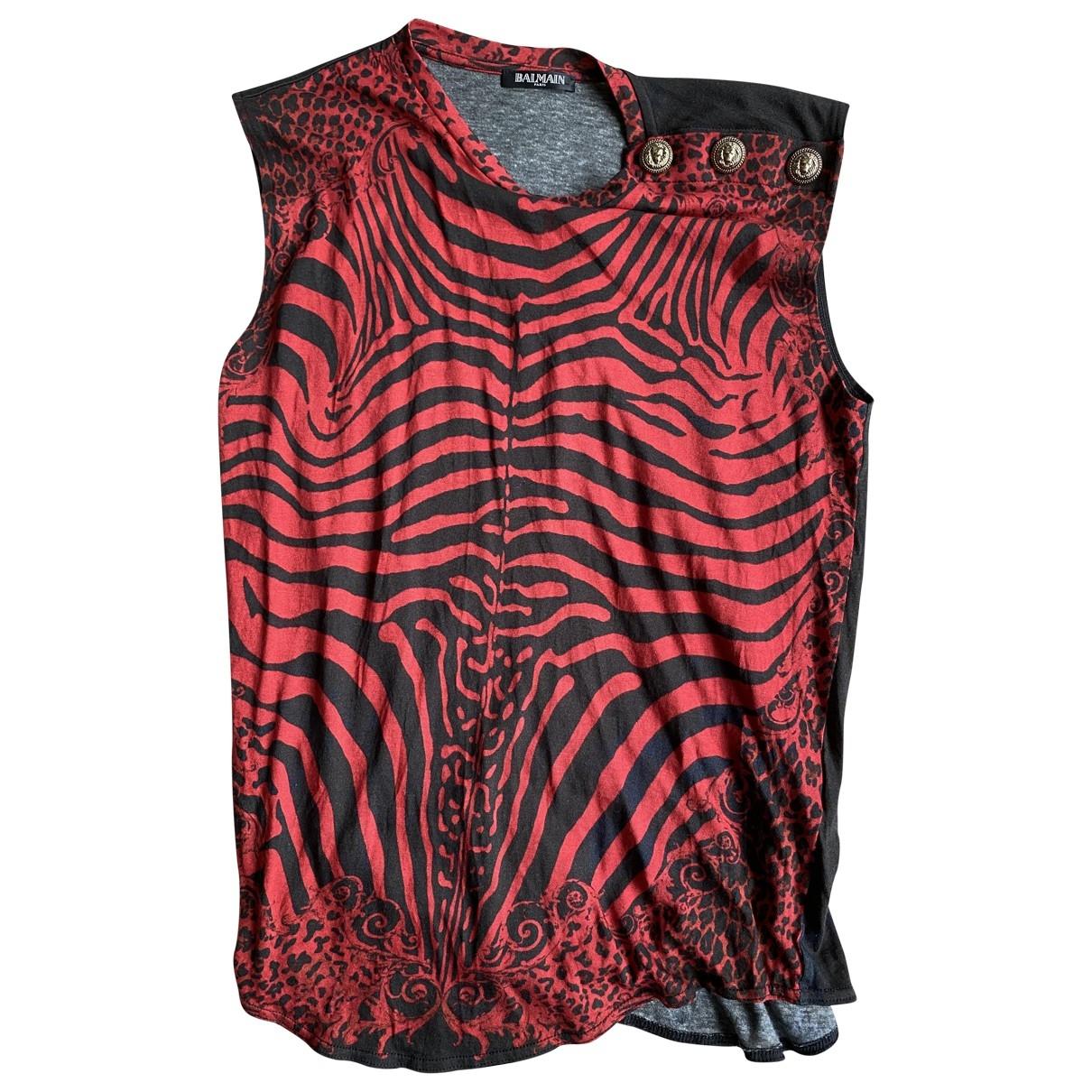Balmain - Top   pour femme en coton - multicolore