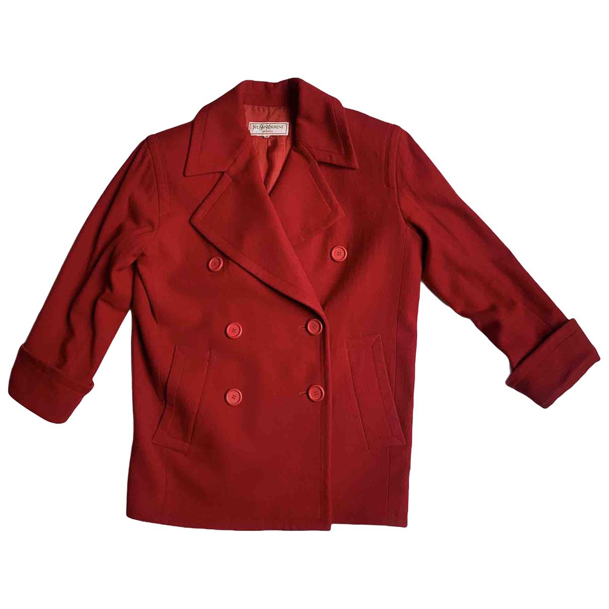 Yves Saint Laurent N Red Wool jacket for Women 40 FR