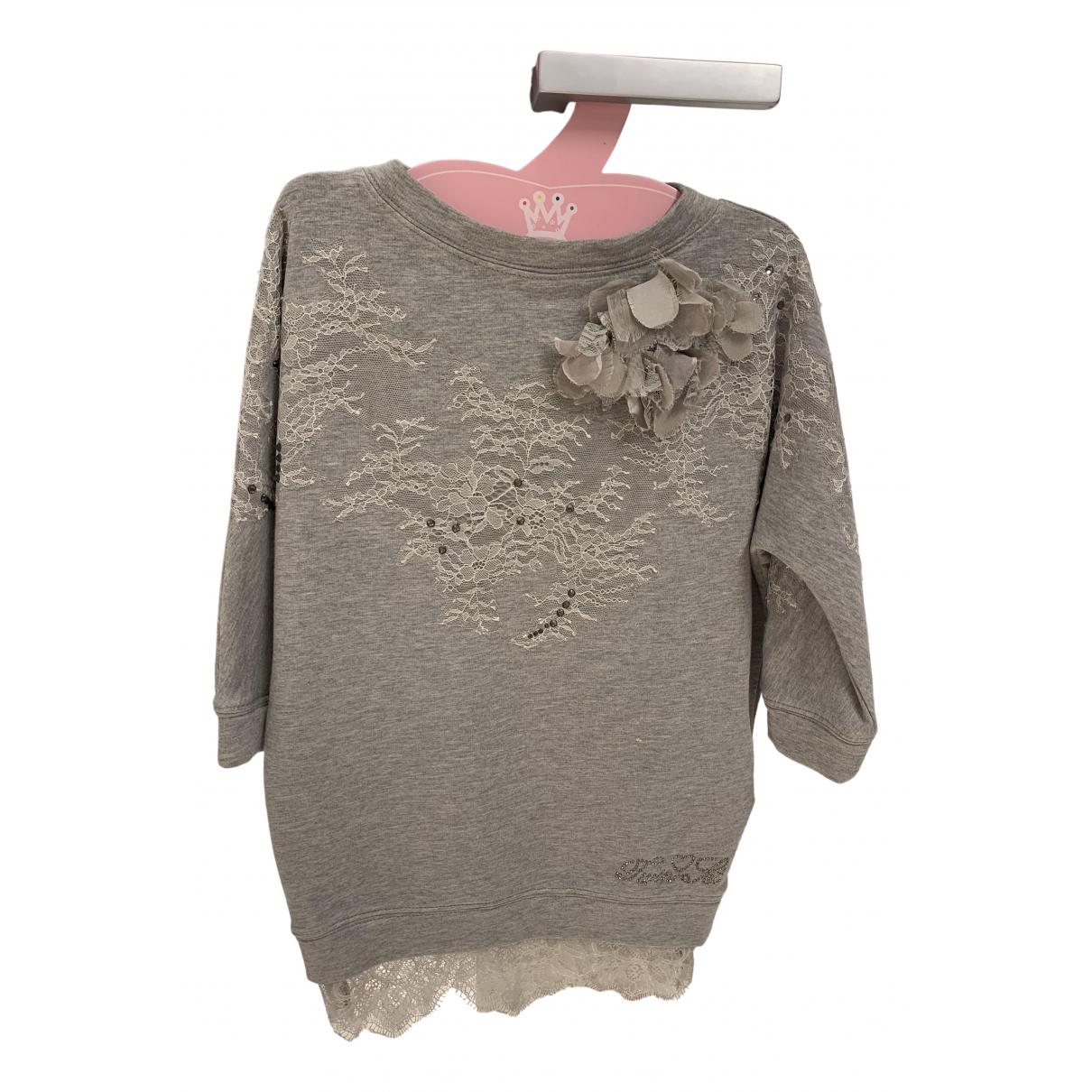 Twin Set - Robe    pour enfant en coton - gris