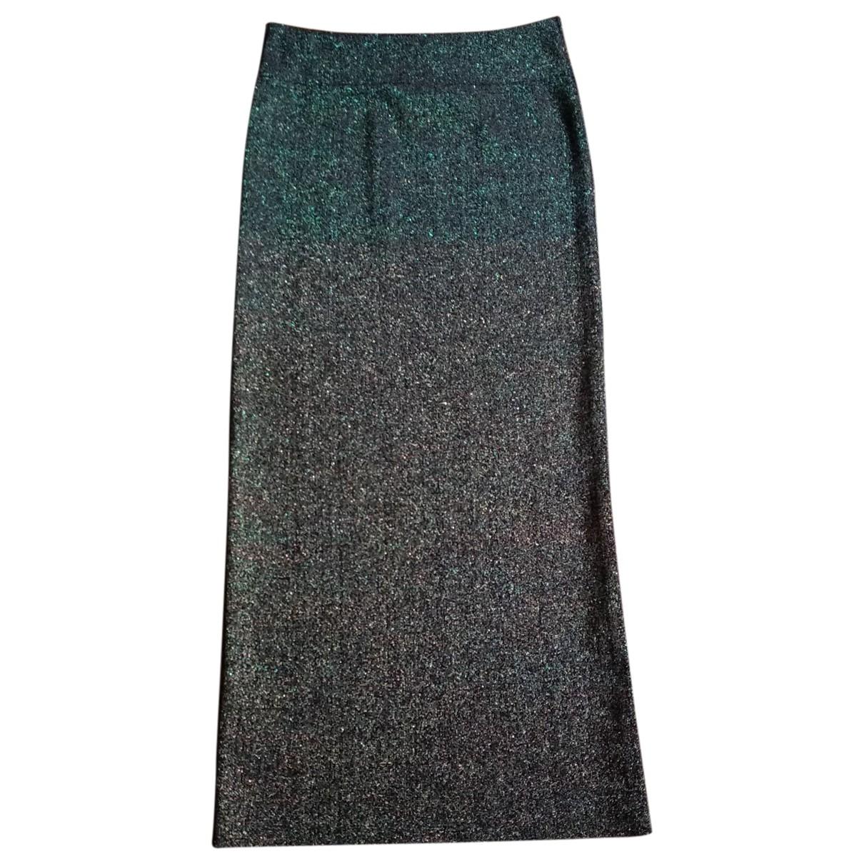 Yves Saint Laurent - Jupe   pour femme en laine - vert