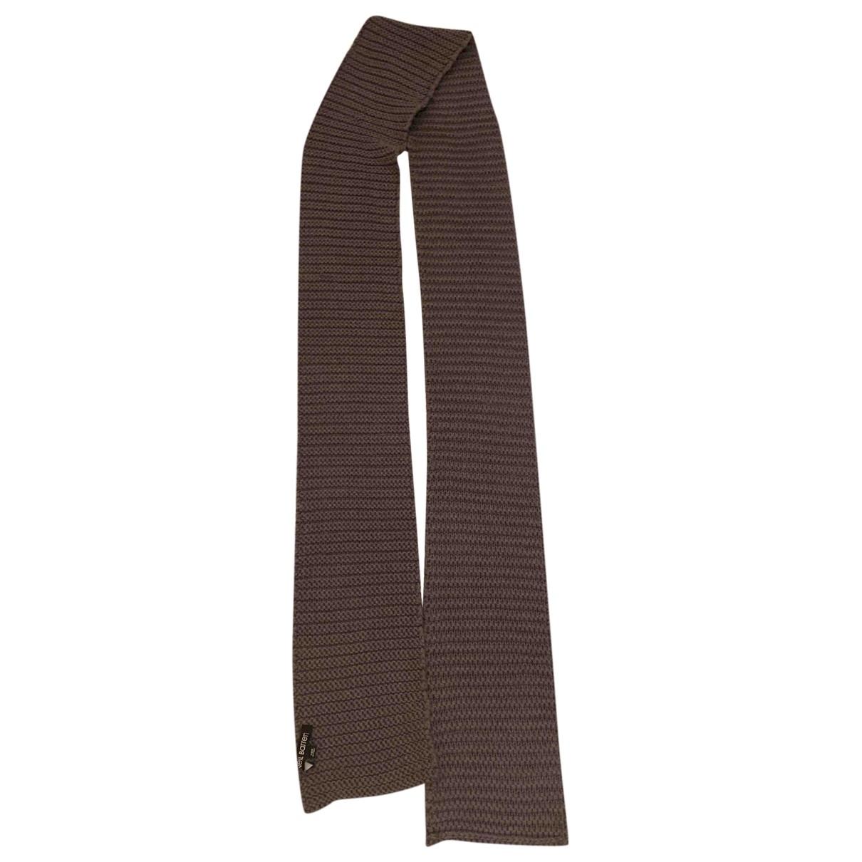 Neil Barrett \N Grey Wool scarf & pocket squares for Men \N