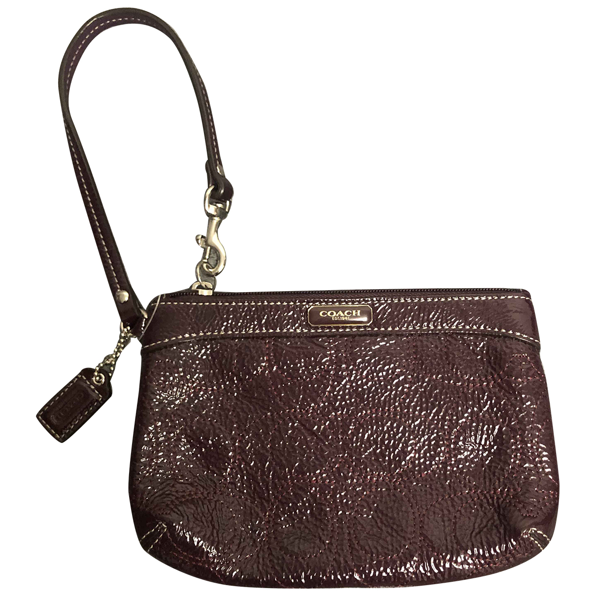 Coach \N Clutch in  Bordeauxrot Leder
