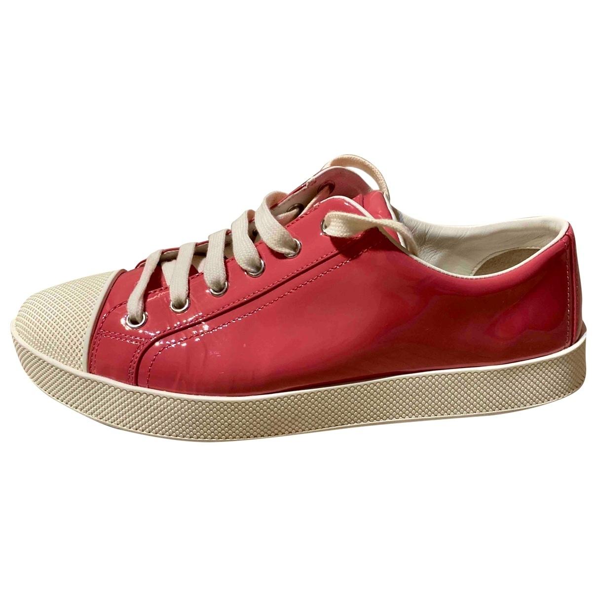 Prada \N Sneakers in  Rosa Lackleder