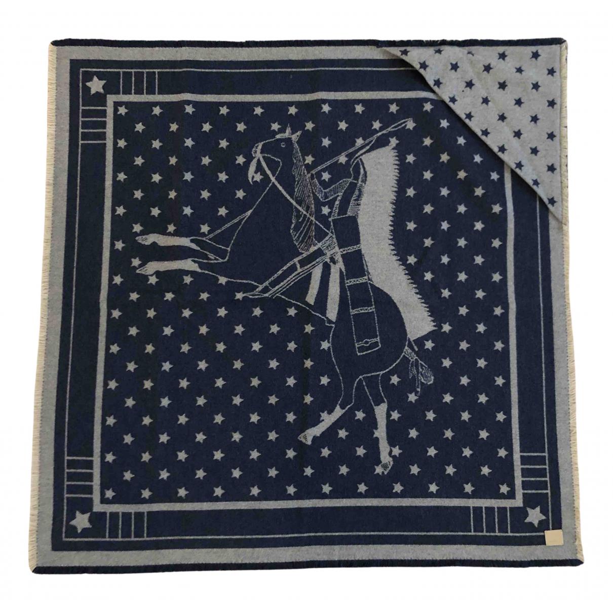 Hermes - Linge de maison   pour lifestyle en cachemire - bleu