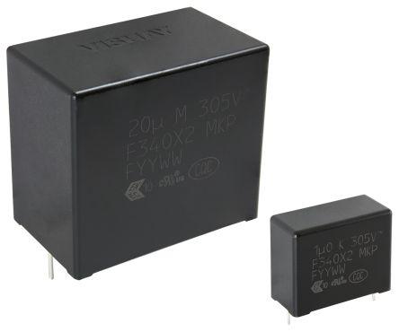 Vishay 15μF Polypropylene Capacitor PP 305V ac ±20% Tolerance Through Hole F340X2 Series (45)