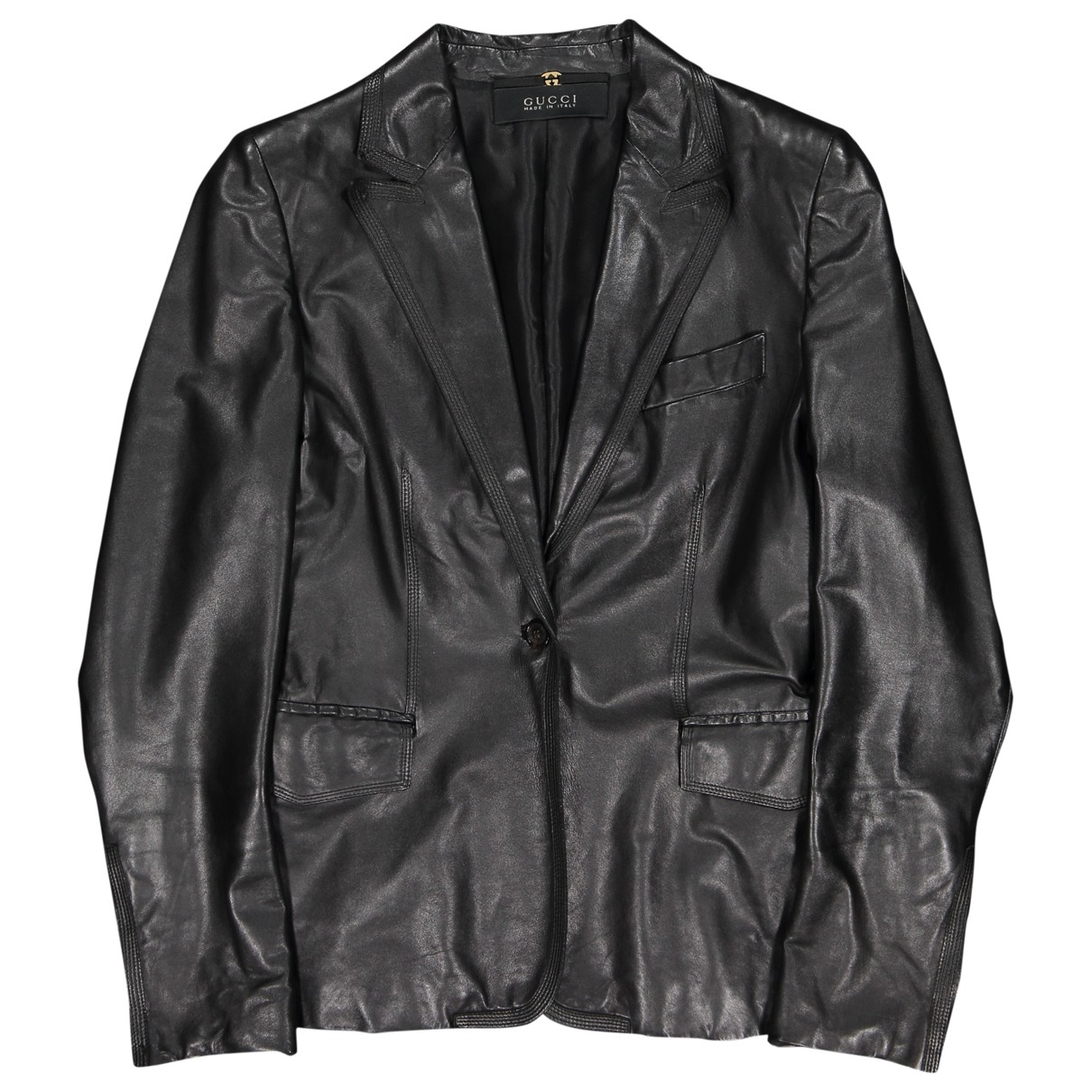 Gucci \N Black Leather jacket for Women 42 IT