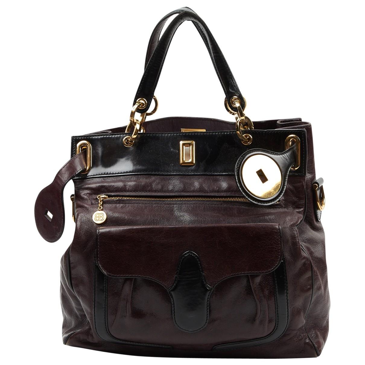 Balenciaga \N Handtasche in  Lila Leder